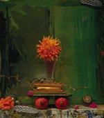 """""""Still Life, Pomegranates on Green"""""""