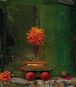 """Still Life, Pomegranates on Green"""