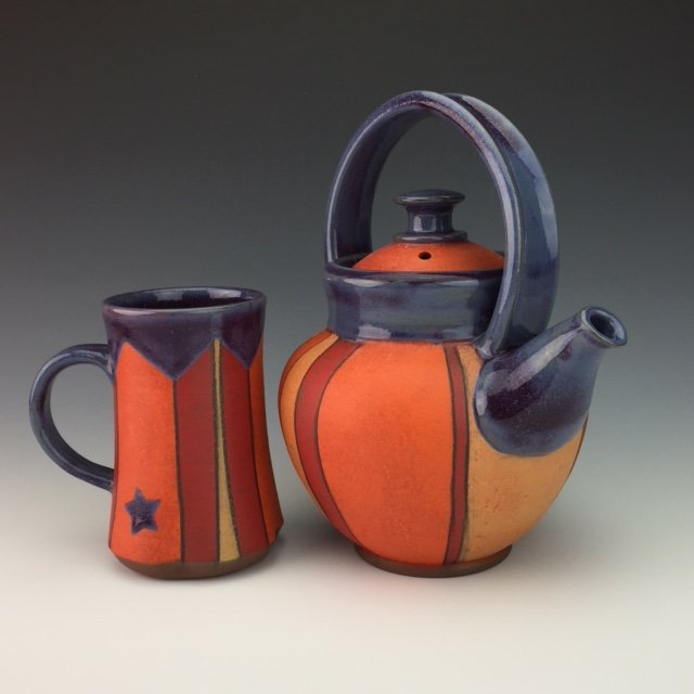 "Lisa McGrath, ""Teapot and mug,"" 2019"
