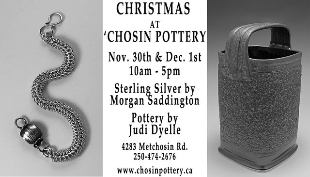 "Judi Dyelle and Morgan Saddington, ""Christmas at 'Chosin Pottery,"" 2019"