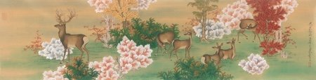 """Ren Zhong, """"A Herd of Deer in the Maple Grove,"""" 2019"""