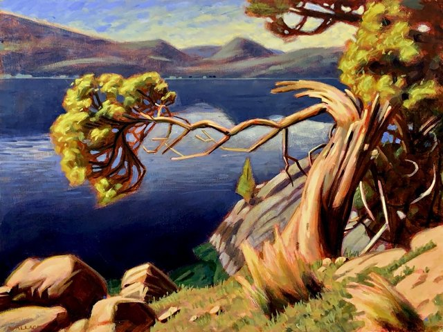 "Joshua Wallace, ""Looking From Rattle Snake Point,"""