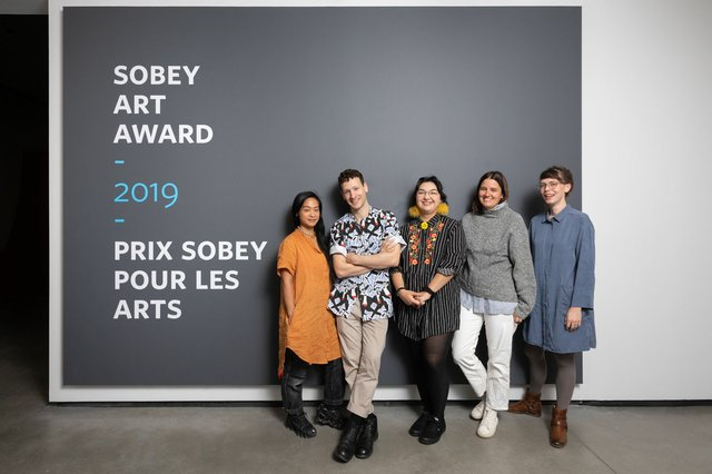 The 2019 Sobey Art Award finalists, from left