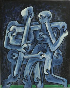 """Tribal Dancers in Blue"""