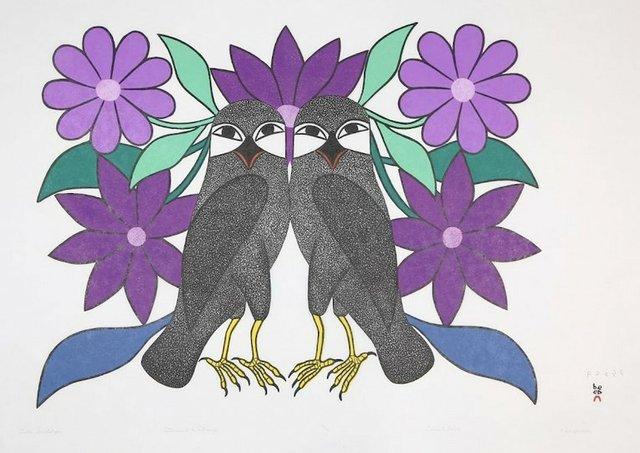 Kenojuak Ashevak, Owls Courtship, 2012