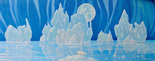 "K Neil Swanson, ""Blue Aurora Moon,"" 2019"