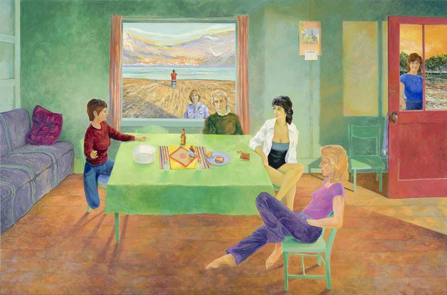 "David More, ""Canadian Window I – Seven Women and The Sea – Yvette & Judy & Sue & Marie & Colette & Agathe,"" 2014"