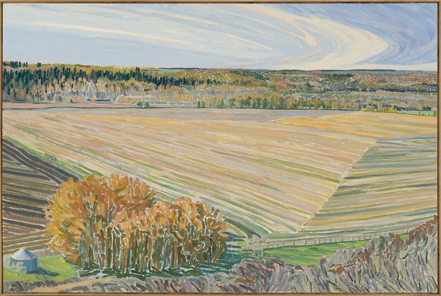 "David More, ""Harvest Forms, Red Deer River Valley,"" 1986"