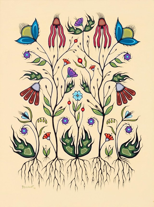 "Christi Belcourt, ""Resilience of the Flower Beadwork People,"" 1999"