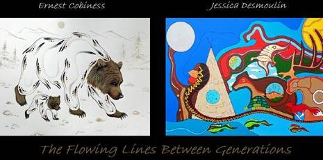 "Ernest Cobiness & Jessica Desmoulin, ""The Flowing Lines Between Generations,"" 2019"