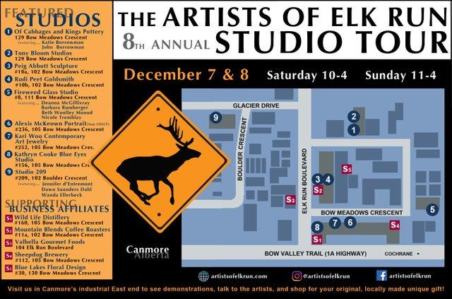 "Artists Elk Run, ""8th Annual Studio Tour,"" 2019"