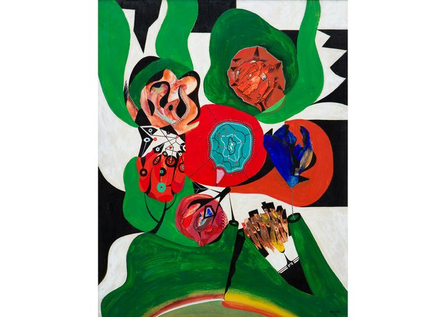 """Alfred Pellan, """"Phytographie,"""" circa 1958, ($72,000 - ByDealers)"""