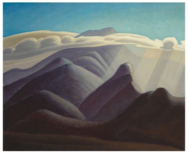 """Lawren Harris, """"In the White Mountains II,"""" circa 1934-35, 18"""" x 22"""" (US$350,000 plus premium - Sotheby's)"""