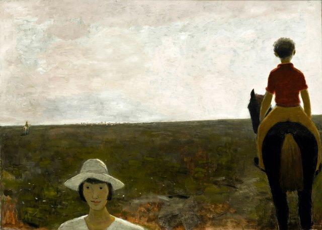 """Jean Paul Lemieux, """"Les deux cavaliers,"""" 1972 ($1,680,000 - ByDealers)"""