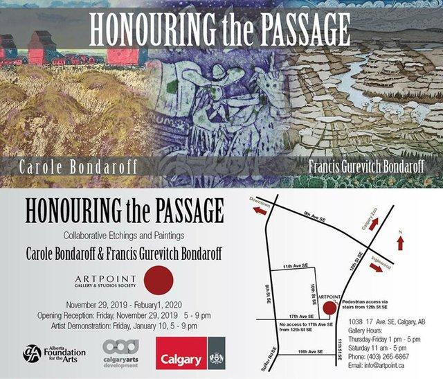 "Carole Bondaroff and Francis Gurevitch Bondaroff, ""Honouring the Passage,"" 2019"