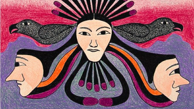 "Kenojuak Ashevak, ""Oracle (detail),"" 1999"