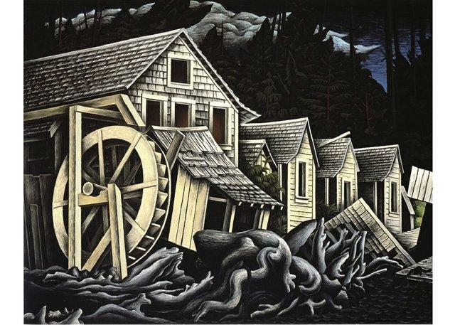 """E.J. Hughes, """"Abandoned Village,"""" 1947"""