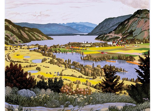 "E.J. Hughes, ""South Thompson Valley Near Chase, BC,"" 1957"