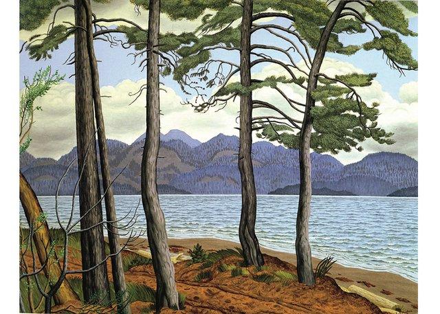 "E.J. Hughes, ""Trees, Savary Island,"" 1953"