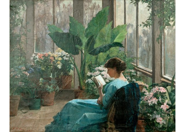 """Frances Jones, """"In the Conservatory,"""" 1883"""