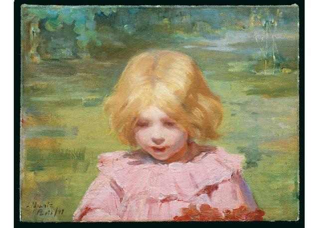 "Laura Muntz, ""The Pink Dress,""1897"