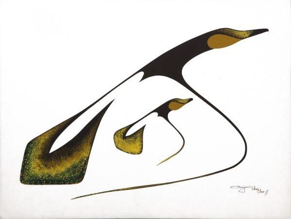 "Benjamin Chee Chee, ""Untitled [In Flight],"" 1977"