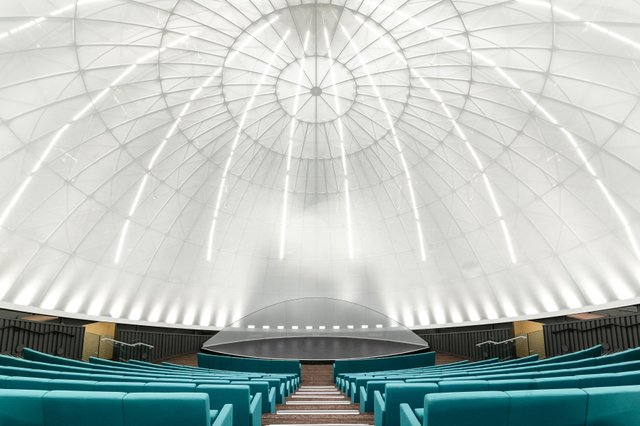Interior view of the dome of Contemporary Calgary. (courtesy Contemporary Calgary, photo by Jamie Anholt)