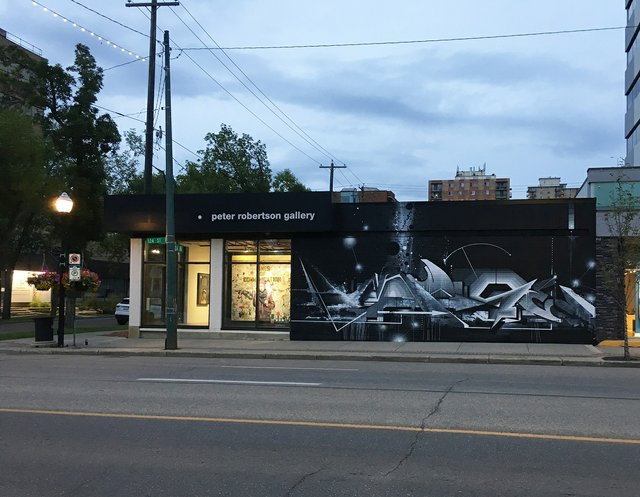 """Amuse 126, """"West Mural,Peter Robertson Gallery,"""" 2019(image courtesyof Peter Robertson Gallery, Edmonton)"""