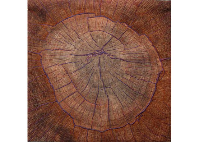 "Martha Cole, ""Tree Ring Mandala,"" 2019"