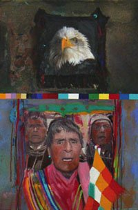 """Bolivian Shaman Protest"""