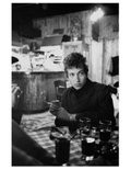 "Douglas R. Gilbert, ""Bob Dylan sitting at table in Kettle of Fish Bar, Greenwich Village, New York,"" 1964"