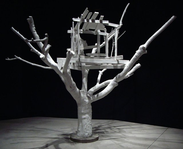 """Jeremy Hatch, """"Treehouse,"""" 2006 (collection of the artist; photo by Alina Ilyasova, courtesy of UBC Museum of Anthropology)"""