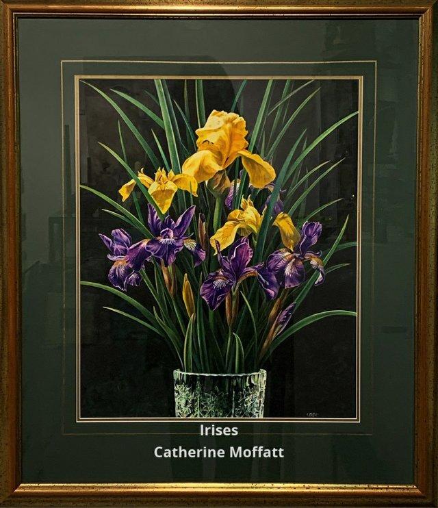 """Catherine Moffatt, """"Irises,"""" 2019"""