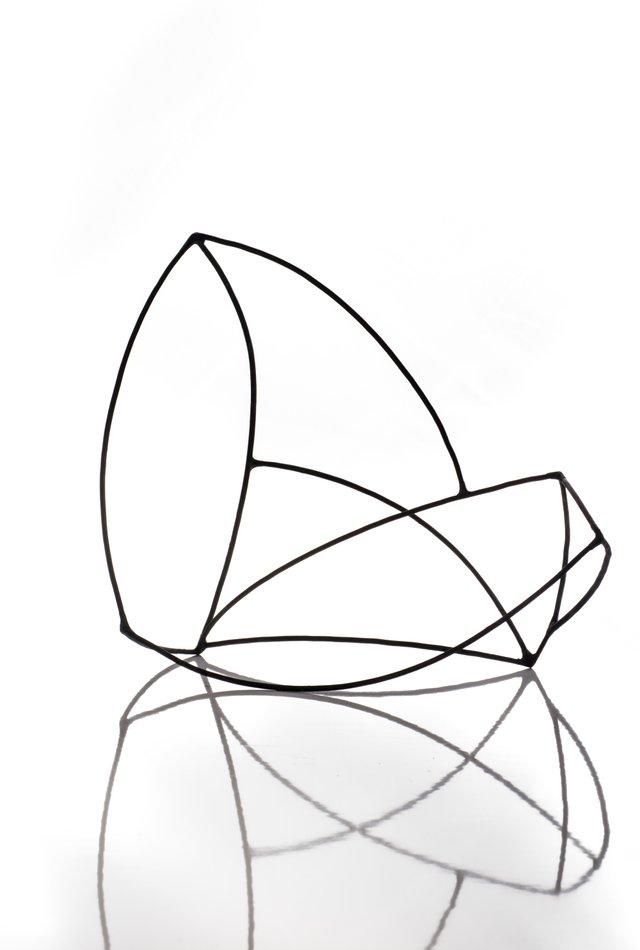 "Benjamin Oswald, ""Line Sculpture,"" nd"