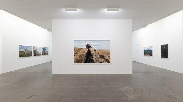 "Installation view of Meryl McMaster, ""As Immense as the Sky"" at Ikon Gallery, Birmingham UK, 2019 © Ikon Gallery"
