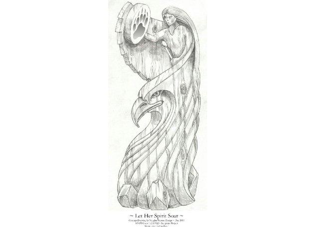 Vaughn Warren, final design for the Sculpture Memorializing Murdered and Missing Indigenous Women, Girls and LGBTQ+ Individuals