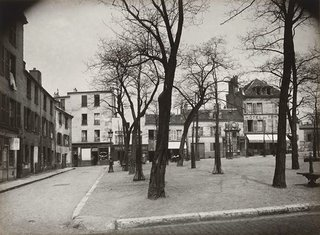 "Eugène Atget, ""Place du Tertre, Montmartre, Paris,"" c. 1922 (printed c. 1950s), silver gelatin print, (collection of the Vancouver Art Gallery, Gift of Claudia Beck and Andrew Gruft)"