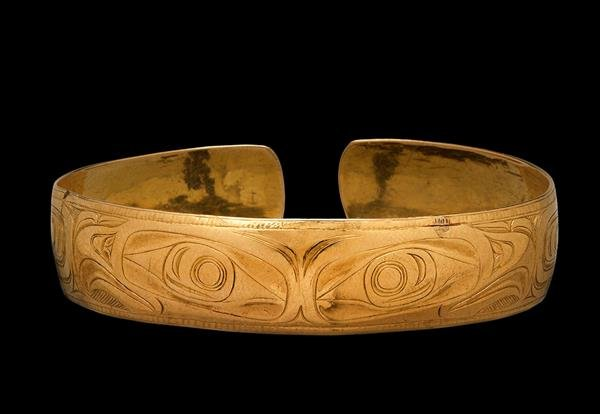 "Charles Edenshaw, ""Bracelet,"" late 19th C., gold, (collection of the Vancouver Art Gallery, Gift from Donald Ellis in honour of Daina Augaitis, photo by John Taylor)"