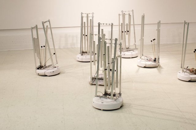 "Erin Gee, ""Swarming Emotional Pianos,"" 2013"