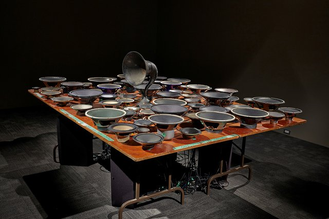 """Janet Cardiff and George Bures Miller, """"Experiment in F# Minor,"""" 2013"""