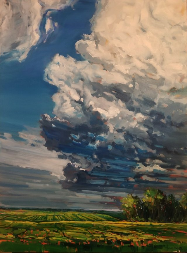 "Holly Dyrland, ""July Sky,"" 2019"