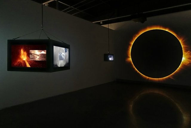 "Dan Hudson, ""Eclipse,"" 2019, video installation at Contemporary Calgary (courtesy of the artist)"