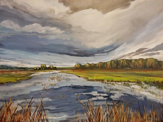 "Holly Dyrland, ""Prairie Wetlands,"" 2020"