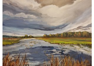 "Holly Dyrland, ""Prairie Wetlands,"" 2020"