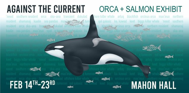 "Salt Spring Arts Council, ""Against the Current: Orca + Salmon,"" 2020"