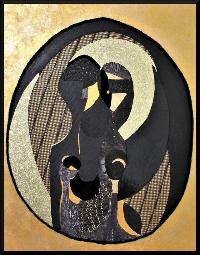 "Elsa Robinson, ""Black Painting IV,"" 2020"