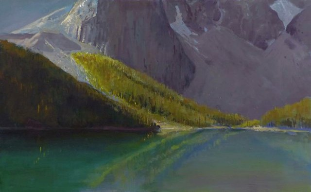 "Terry Fenton, ""Breakthrough Moraine Lake,"" 2020,"