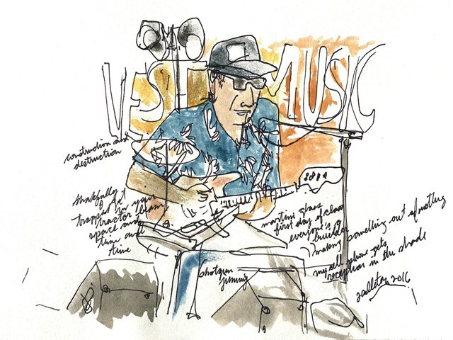 "James Culleton, ""Shotgun Jimmie at the Harvest Sun Music Festival,"" 2018"