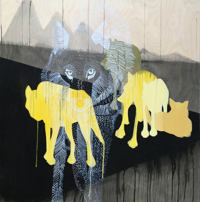 "Stephanie Kellett, ""Wolves,"" 2019"