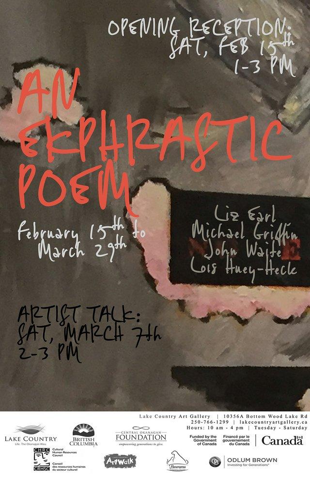 "Liz Earl, Michael Griffin, Lois Huey-Heck & John Waite, ""An Ekphrastic Poem,"" 2020"